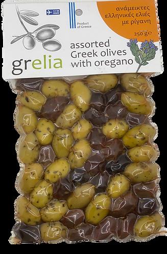 Gemischte Oliven mit Oregano