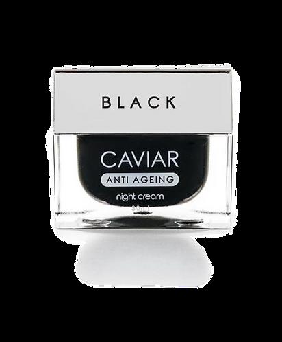 Anti-Aging Nachtcreme mit schwarzem Kaviar