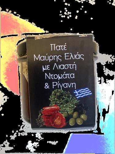 Olivenpaste mit Sonnen getrockneten Tomaten und Oregano