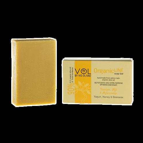 Organische Seife mit Joghurt, Honig und Bienenwachs