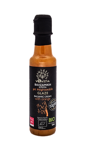 Bio-Balsamico Glasur Creme mit Orangen