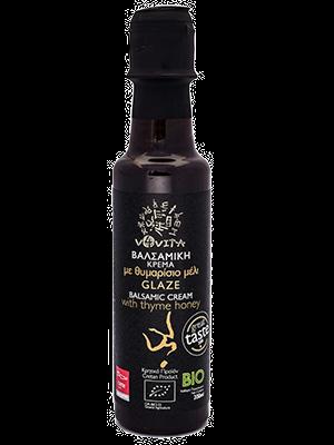 Bio-Balsamico Glasur Creme mit Thymian Honig
