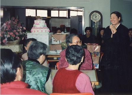 공동 생일잔치 박청수 교무(1988년 2월)(공동식당)(환우)(케이크)(