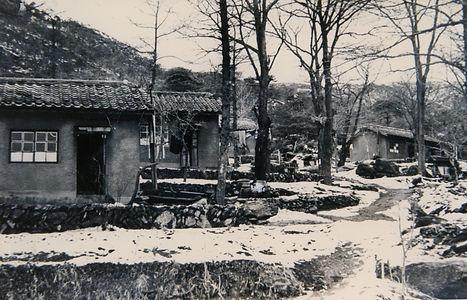 1950-60년대의 성 나자로 요양원 원생 숙소 이곳은 일제시대와 8.1