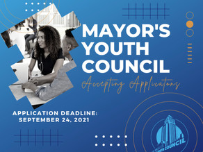 The Mayor's Youth Council - Apply by Sept. 24th