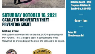 Catalytic Converter Theft Prevention Event Oct. 16