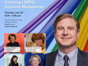 Creating LGBTQ+ Inclusive Workplaces June 24, 5pm
