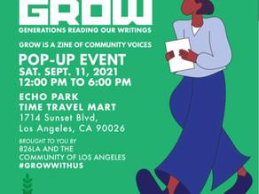 Sept. 11th - G.R.O.W. Pop Up Event