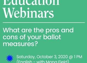10/3 & 10/10: Ballot Education Webinars