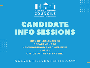 NC Elections are coming.  Check out the upcoming Candidate Information Sessions.