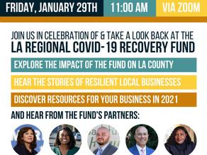 LA COVID Fund Virtual Forum Fri, Jan. 29th 11am