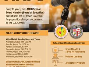Aug 30 & Sept 1 - LAUSD Redistricting Meetings