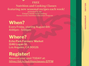 Cooking Classes Every Friday @ EP Farmers Market