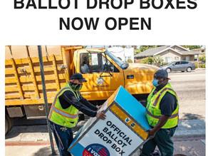 Ballot Drop Box locations are Open
