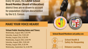 LAUSD Redistricting Zoom Meetings Aug. 30 & Sept 1