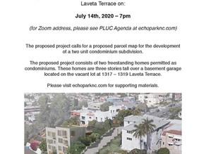 1317-1319 Laveta Terrace Presentation on 7/14/20 at 7pm