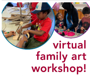 Sat., Aug. 15th, a free Virtual Family Art Workshop presented by Angels Gate.