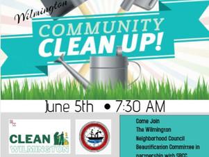 Wilmington Community Clean Up, Sat., June 5th 7:30AM