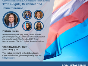 Trans Rights, Resilience & Remembrance - Nov 19 6pm