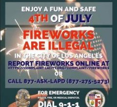 Fireworks are illegal in Los Angeles