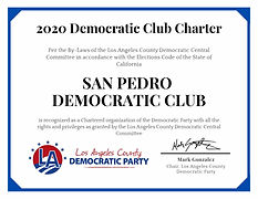 San Pedro Democratic Club Charter Certif