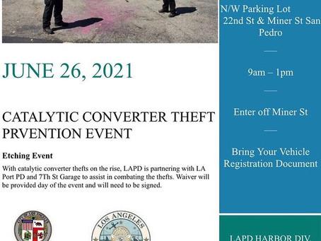 June 26 - Catalytic Converter Theft Prevention Event