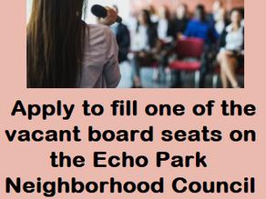 EPNC Taking Applications for 3 Open Board Seats