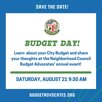 Save the Date for Budget Day held August 21 at 9:30am. Learn about your City Budget.
