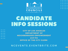 Candidate Information Sessions Jan 7, 16, & 30th.