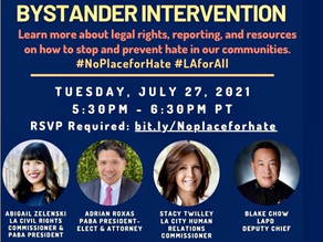 July 27 - Standing Up to Hate Training Series
