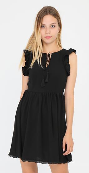 robe courte NOÉMIE & CO | AniBags | dentelle dans le dos | décolleté | manches courtes