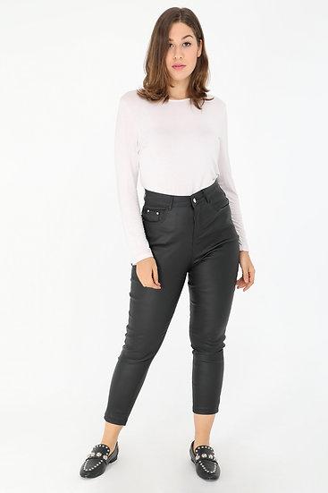 Pantalon | AniBags | pantalon enduit | leggings | noir