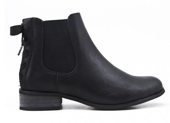 Bottines | AniBags | chaussures | nœud | noir | petit talon