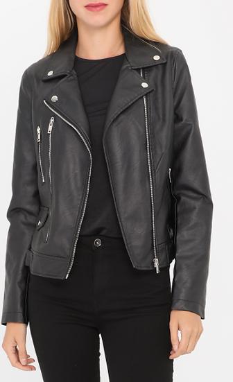 Veste Perfecto | AniBags | noir | simili cuir | vêtements d'extérieur