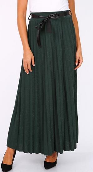 Jupe | AniBags | jupe plissée | brillante | longue | vert