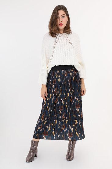 jupe plissée | AniBags | grande taille | fluide | imprimé |