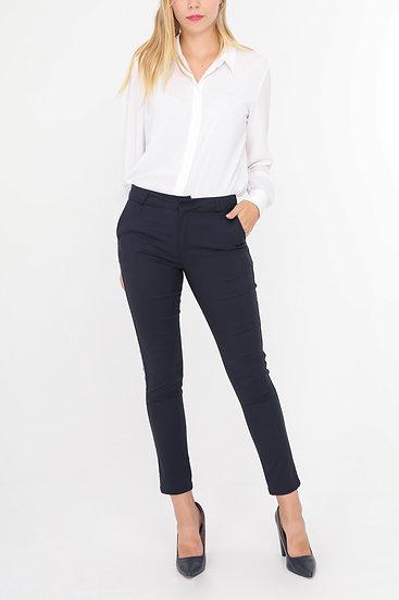 pantalon | AniBags | strass | taille haute | bleu |