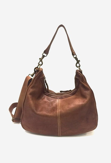 Sac cuir naturel | made in Italie | AniBags | brun | bandoulière