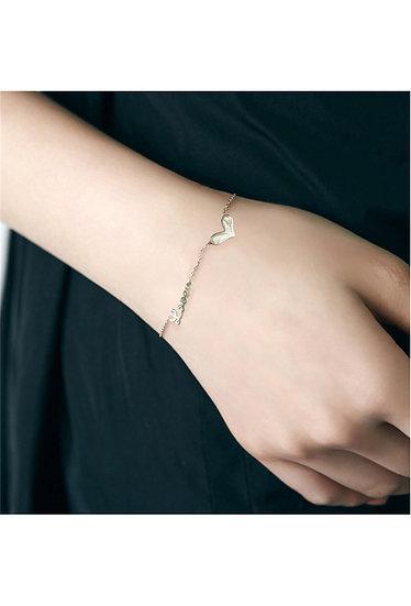 Bracelet acier femme fin avec cœur Love