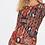 Robe imprimée dentelle   AniBags   col rond   robe courte   casual