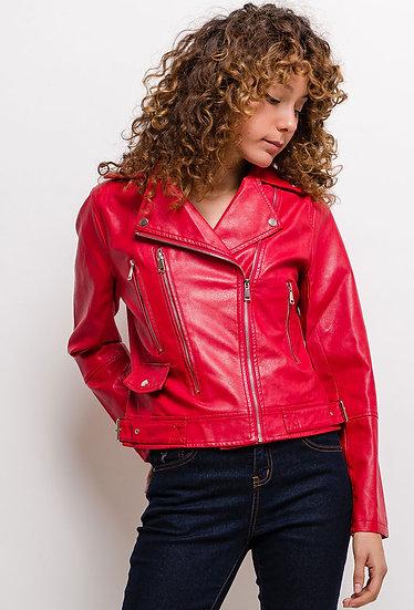 perfecto | AniBags | simili | cuir | manteau | veste | Automne | Hiver | manches longues | noire