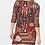 Robe imprimée dentelle | AniBags | col rond | robe courte | casual