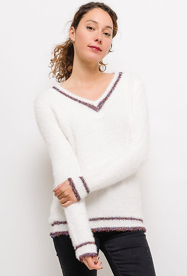 Pull duveteux | AniBags | chandail | doux | col V