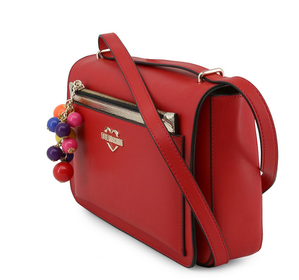 Sac LOVE MOSCHINO rouge et pochette amovible,  AniBags