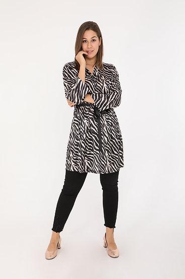 Blouse | AniBags | robe | leopard | tunique | grande taille | manche 3/4