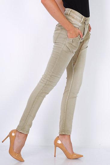 Pantalon   AniBags   Mozzaar   boutons   poches arrière   taille haute