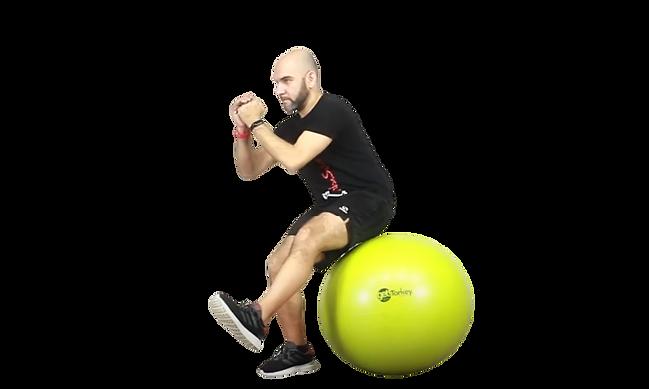 entrenamiento functional con la pelota con Davide Zanichelli en GET! Gymball Evo Training