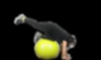 entrenamiento functional con la pelota con Harumi Valdivieso en GET! Gymball Evo Training