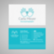 Branding design Pretoria | Carla Meyer Physiotherapy | Business Cards