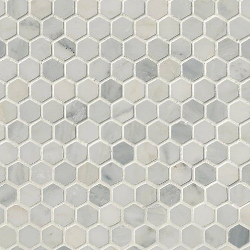 Motif Arabescato Carrara Hexagon Honed